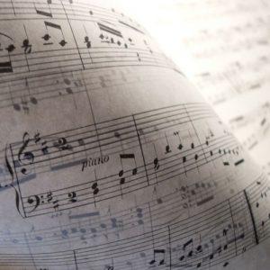 מילים, גיליון מוסיקה
